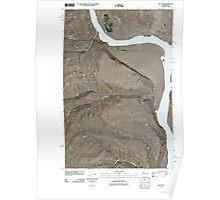 USGS Topo Map Washington State WA West Bar 20110411 TM Poster