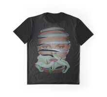 Surrealist Face, Spring and Flower Graphic T-Shirt