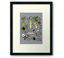 Dress up Link Framed Print