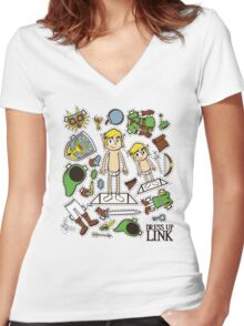 Dress up Link Women's Fitted V-Neck T-Shirt