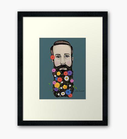 Floral He Framed Print