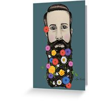Floral He Greeting Card