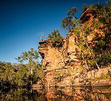 Australia - Outback Gorge I by lesslinear