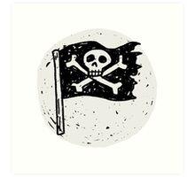 Kid Pirate skull on da moon Art Print