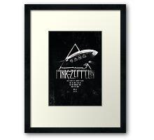 Pink Zeppelin Framed Print