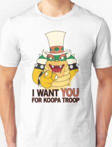 Bowser Wants You - no border T-Shirt