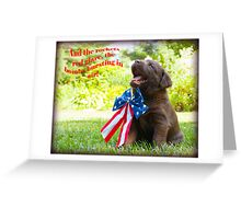 And the rockets red glare! Greeting Card