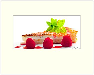 Lemon Tart with Raspberries by Stephen Knowles