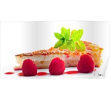 Lemon Tart with Raspberries Poster