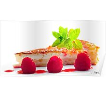 Lemon Tart with Raspberries Poster