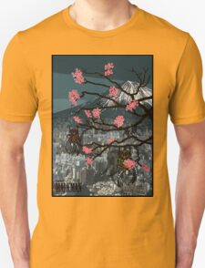 Robots and Cherry Blossom T-Shirt