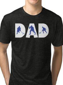 "Dad Father's Day ""Hockey Dad"" Tri-blend T-Shirt"