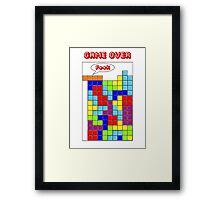 Tetris - GAME OVER Framed Print