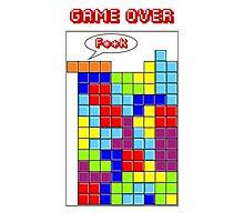 Tetris - GAME OVER Photographic Print