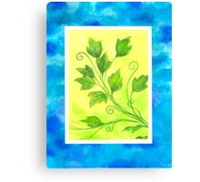 SPRING - BRUSH AND GOUACHE Canvas Print