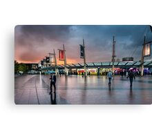 Storm clouds gathering over North Greenwich Peninsula Canvas Print