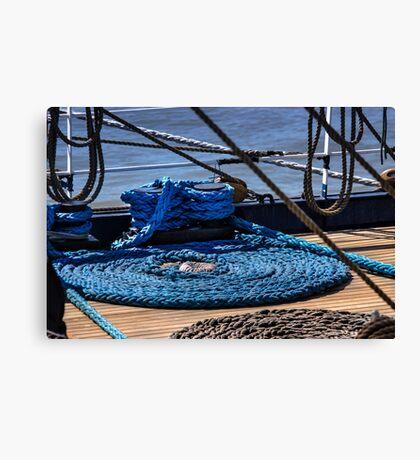 Moored ship Canvas Print