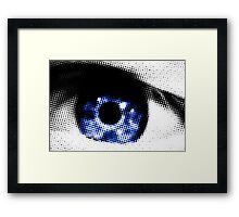 Blue Eye Abstract Framed Print