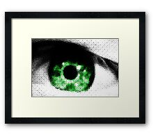 Green Eye Abstract Framed Print