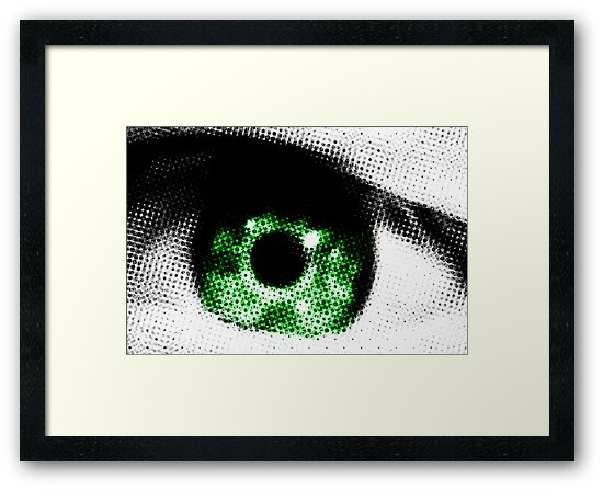 Green Eye Abstract by Natalie Kinnear