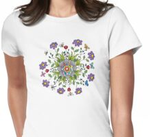 Flower Mandala Womens Fitted T-Shirt