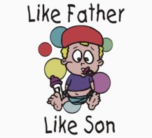 """Funny New Father Dad """"Like Father Like Son"""" One Piece - Long Sleeve"""