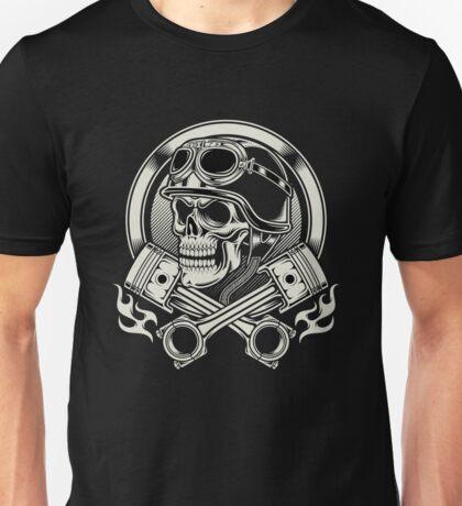 Awesome Biker skull Unisex T-Shirt