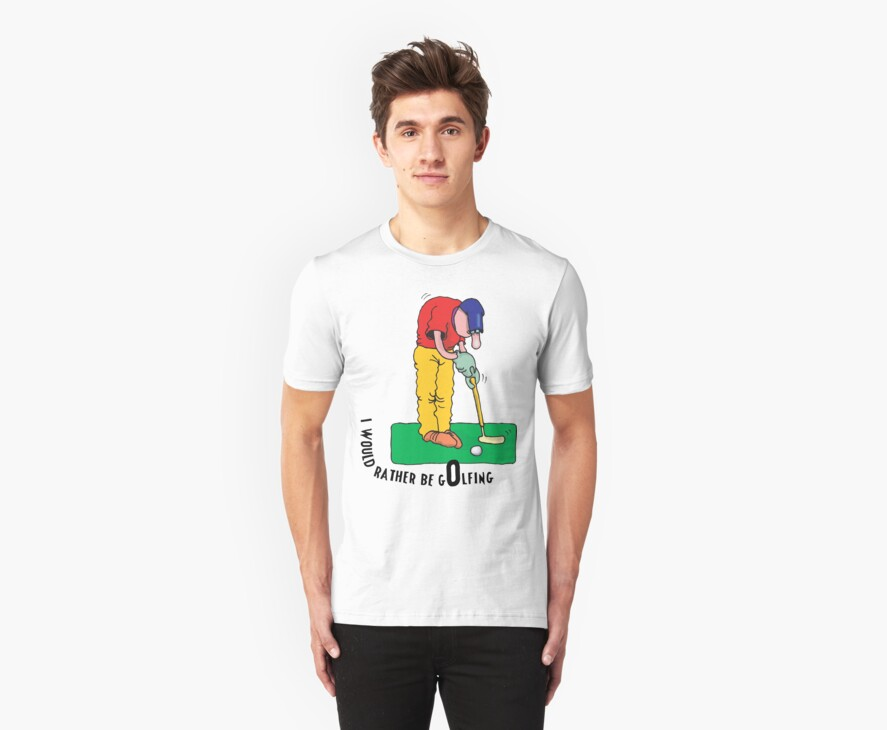 Dad Father's Day Funny I'd Rather Be Golfing by FamilyT-Shirts