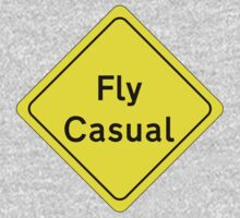 Fly Casual Sign One Piece - Long Sleeve