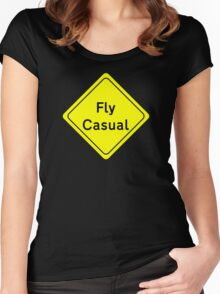 Fly Casual Sign Women's Fitted Scoop T-Shirt