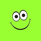 Happy green smiley face iPhone case by Mhea