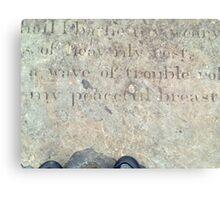 slave graves Canvas Print