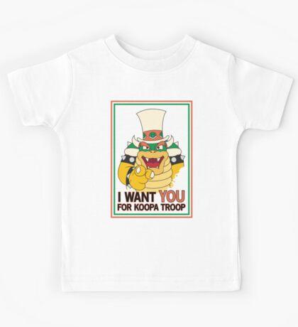 Bowser Wants You - border Kids Tee