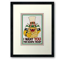 Bowser Wants You - border Framed Print