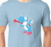 Blue Yoshi Splatter Design Unisex T-Shirt