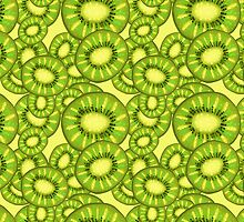 Kiwi Slices Pattern by SaradaBoru