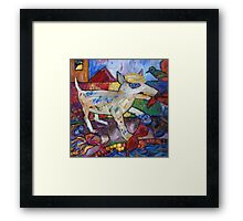 Shredder Cuts Loose By The Pool Framed Print