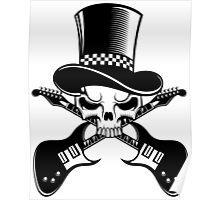 Heavy Metal Music. Skull guitars Poster