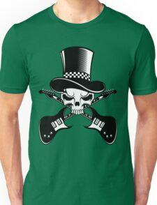 Heavy Metal Music. Skull guitars Unisex T-Shirt