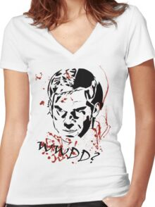 What Would Dexter Do? Women's Fitted V-Neck T-Shirt