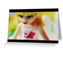 Girl Plastic Greeting Card