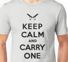 Keep Calm, Black Unisex T-Shirt