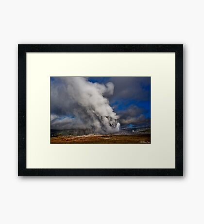 Old Faithful 2 Framed Print
