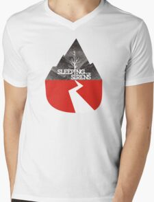 Sleeping with sirens music mountain Mens V-Neck T-Shirt
