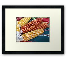 Corn over the table Framed Print