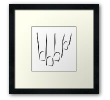 Graphic showing nail care or manicure  Framed Print