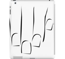 Graphic showing nail care or manicure  iPad Case/Skin