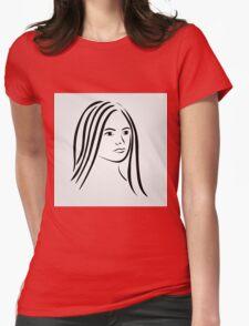 Face of a beautiful young woman  T-Shirt