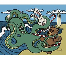 Teddy Bear And Bunny - Epic Battle Photographic Print