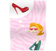 Girls Love Shoes Poster